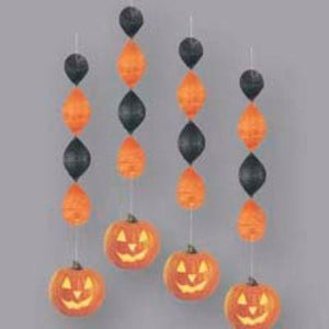 "Deco Dangler Jack-O-Lantern 18"" Pack of 4"