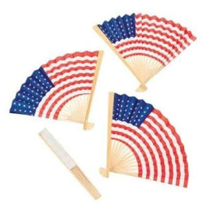 "USA Flag Paper Fan 10"" - 12 Pack"