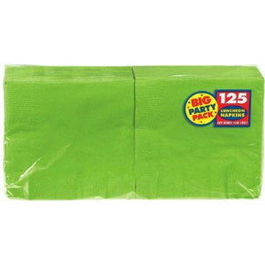 Kiwi Green Big Party Pack Luncheon Napkin - 125 Pack