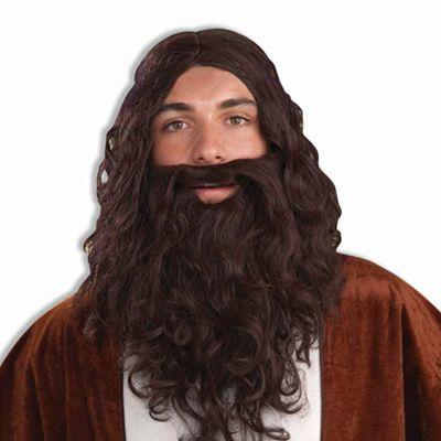 Biblical Brown Wig & Beard Set