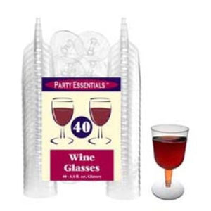 Party Essentials Clear Champagne Glasses 4 oz. - 40 Pack