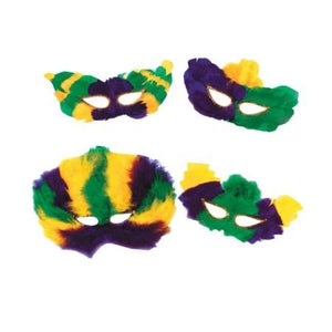 Mardi Gras Fancy Feather Eye Masks