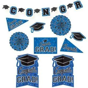 Graduation Blue Decoration Kit - 10 Pack