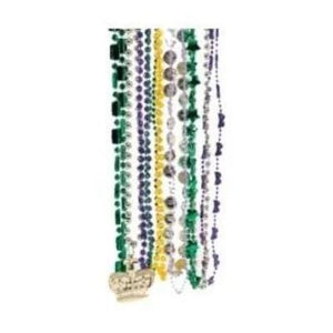 "Mardi Gras Assorted Beads 24""-48"" - 100 Pack"