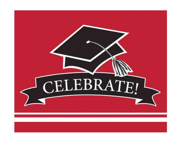 Red Graduation Invitations - 25 Pack