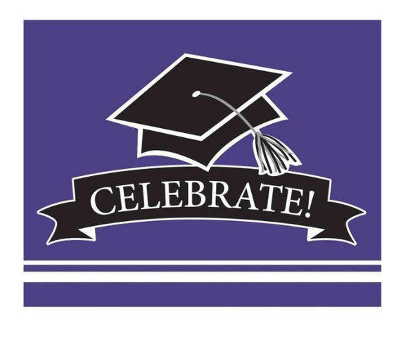 Purple Graduation Invitations - 25 Pack