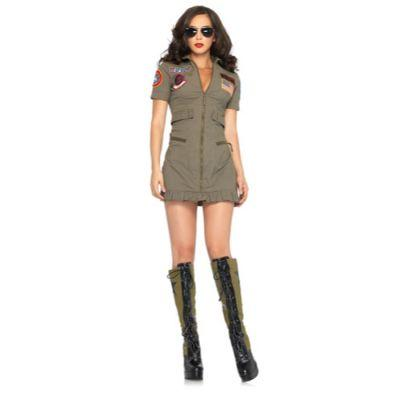 Top Gun Flight Dress Adult Costume