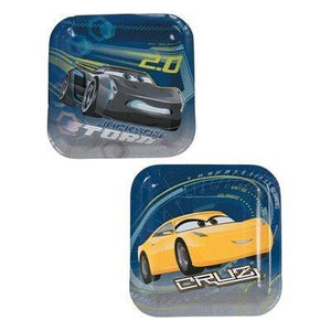 DISNEY CARS PLATE DS SQ PK8