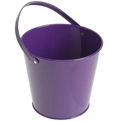 Pail Metal Purple 4.75
