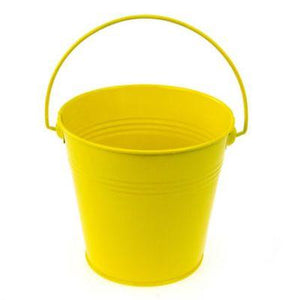 Pail Metal Yellow 4.75""