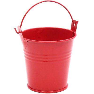 Pail Metal Red 4.75