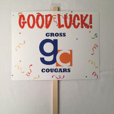 Gross Cougars Yard Sign 14