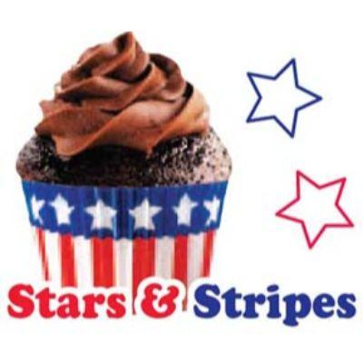 Stars & Stripes Cupcake Case 32 Pack