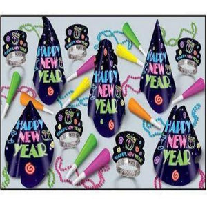 New Year's Neon Brite Party Kit For 10