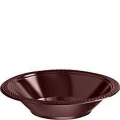 Chocolate Brown Plastic Bowl 12 oz. - 20 Pack
