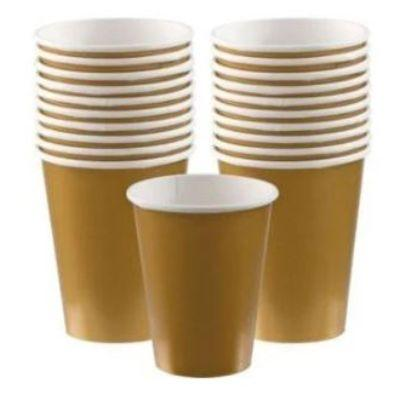 Gold Sparkle Paper Cup 9 oz. - 20 Pack