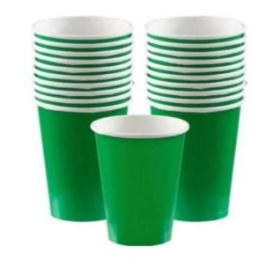 Festive Green Paper Cup 9 oz. - 20 Pack
