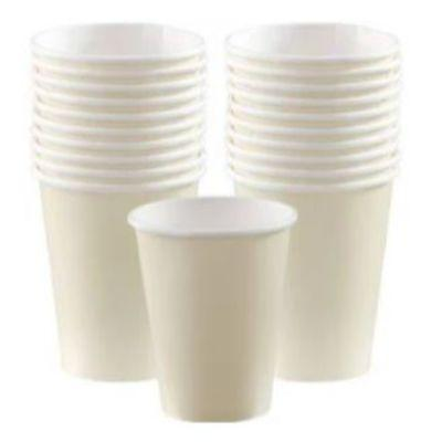 Ivory White Paper Cups 9 oz. - 20 Pack