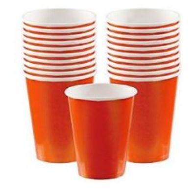 Orange Peel Paper Cup 9 oz. - 20 Pack