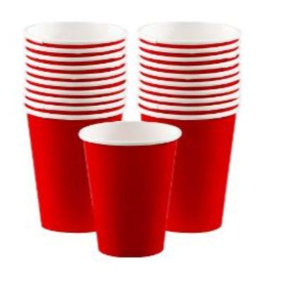 Apple Red Paper Cup 9 oz. - 20 Pack