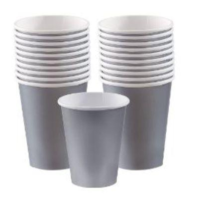Silver Sparkle Paper Cup 9 oz. - 20 Pack