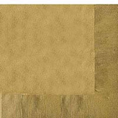 Gold Sparkle Beverage Napkin - 50 Pack