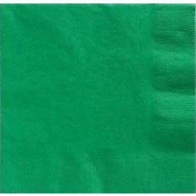 Festive Green Beverage Napkin - 50 Pack