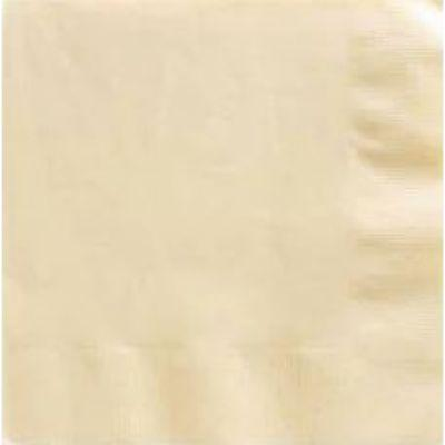 Ivory White Beverage Napkin - 50 Pack