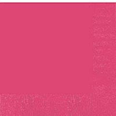 Bright Pink Beverage Napkin - 50 Pack
