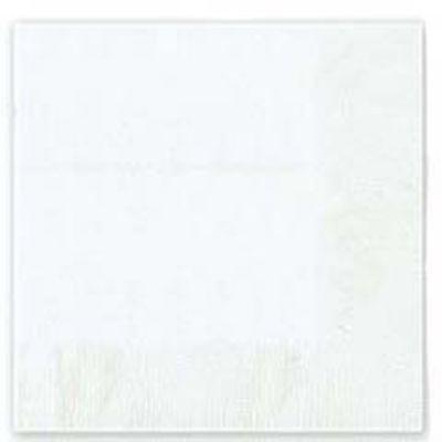 Frosty White Beverage Napkin - 50 Pack