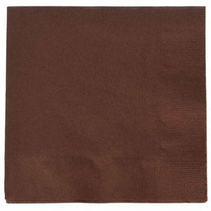 Chocolate Brown Luncheon Napkin - 50 Pack