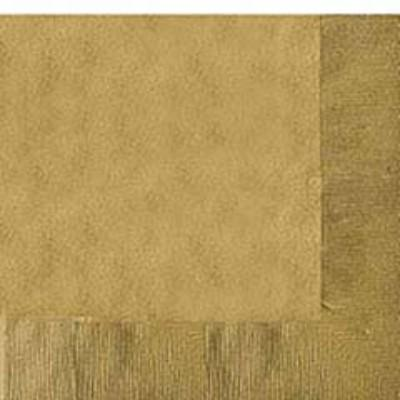 Gold Sparkle Luncheon Napkin - 50 Pack