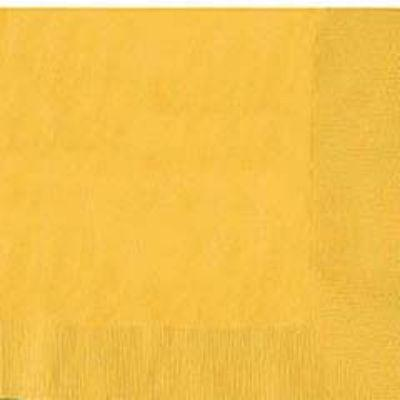Yellow Luncheon Napkin - 50 Pack