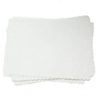 Frosty White Big Party Pack Paper Placemats - 50 Pack
