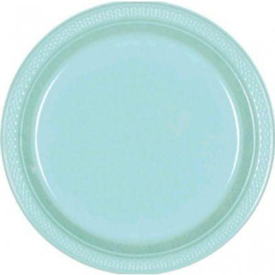 Robin's Egg Blue Plastic Dinner Plate 10