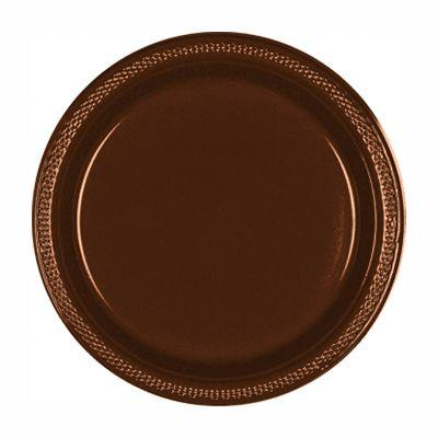 Chocolate Brown Plastic Dinner Plate 10