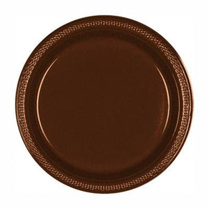 "Chocolate Brown Plastic Dinner Plate 10"" - 20 Pack"