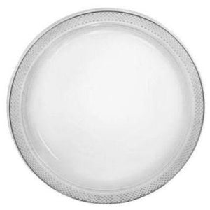 "Clear Plastic Dinner Plates 10"" - 20 Pack"
