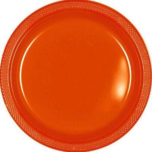"Orange Peel Plastic Dinner Plate 10"" - 20 Pack"