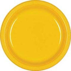 "Yellow Paper Dinner Plate 10"" - 20 Pack"