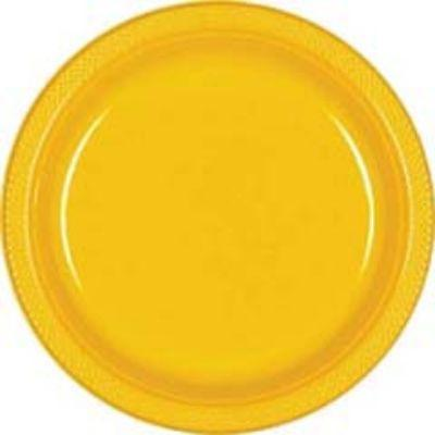Yellow Paper Dinner Plate 10
