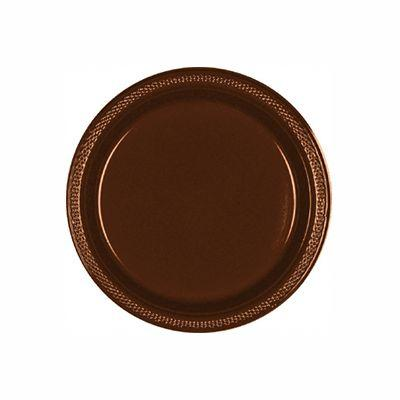 Chocolate Brown Plastic Dessert Plate 7