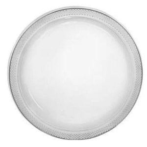 "Clear Plastic Dessert Plates 7"" - 20 Pack"