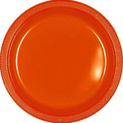 Orange Peel Plastic Dessert Plate 7