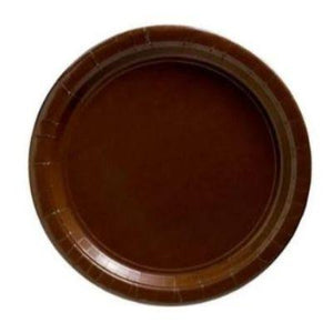 "Chocolate Brown Paper Dinner Plate 9"" - 20 Pack"