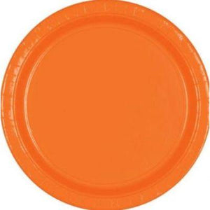 "Orange Peel Paper Dinner Plate 9"" - 20 Pack"