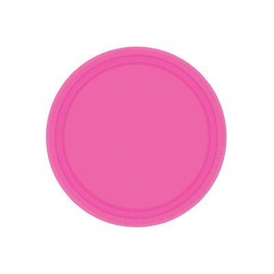 Bright Pink Paper Dinner Plates 9