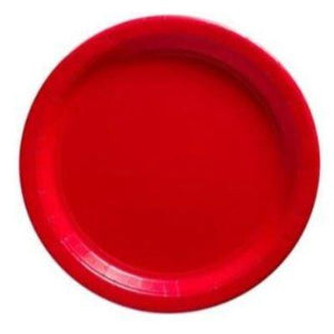 "Apple Red Paper Dinner Plate 9"" - 20 Pack"
