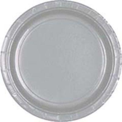 Silver Sparkle Paper Dinner Plates 9