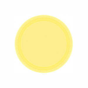 "Light Yellow Paper Dinner Plate 9"" - 20 Pack"